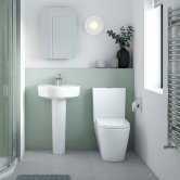 Nuie Provost Bathroom Suite Close Coupled Toilet and Basin 520mm 1 Tap Hole