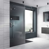 Nuie Walk-In Shower Enclosure 1200mm x 760mm (440mm Entry Width) with Tray