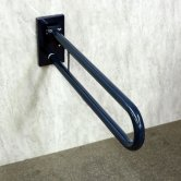 Nymas Friction Hinged Grab Rail with Concealed Back Plate 800mm Length - Dark Blue