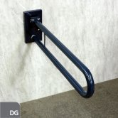 Nymas Friction Hinged Grab Rail with Concealed Back Plate 800mm Length - Dark Grey