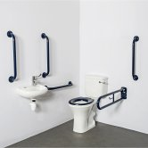 Nymas NymaPRO Close Coupled Doc M Pack White - 5 x Dark Blue Grab Rails