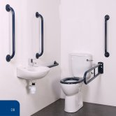 Nymas Nyma PRO Close Coupled Doc M Pack White - 5 x Dark Blue Grab Rails