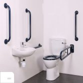 Nymas Nyma PRO Close Coupled Doc M Pack White - 5 x White Grab Rails