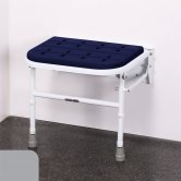 Nymas NymaCARE Premium Padded Wall Mounted Shower Seat with Legs - Grey