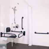 Nymas NymaPRO Doc M Shower Pack White with Concealed Valves and Satin Rails