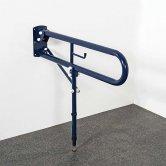 Nymas NymaPRO Trombone Lift and Lock Hinged Grab Rail with Leg and Roll Holder 550mm Length - Dark Blue
