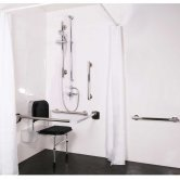 Nymas NymaSTYLE Doc M Shower Pack with Luxury Polished Grab Rails