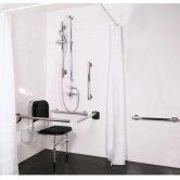 Nymas NymaSTYLE Doc M Shower Pack with Luxury Satin Grab Rails