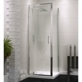 Orbit A6 Pivot Shower Door 700mm Wide - 6mm Glass