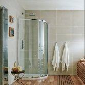 Orbit A6 Double Door Quadrant Shower Enclosure 800mm x 800mm - 6mm Glass