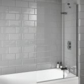 Orbit A8 Extended Bath Screen 1500mm High x 900mm Wide - 8mm Glass