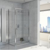 Orbit A8 Sliding Shower Door 1200mm Wide - 8mm Glass