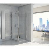 Orbit A8 Hinged Shower Door 900mm Wide - 8mm Glass