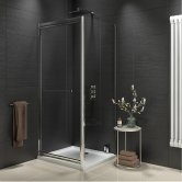 Orbit A8 Infold Shower Door 900mm Wide - 8mm Glass