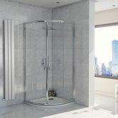 Orbit A8 Double Door Quadrant Shower Enclosure 900mm x 900mm - 8mm Glass