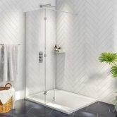 Orbit A8 Walk Around Wet Room Glass Panel 900mm Wide - 8mm Glass