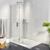 Orbit A8 Walk Around Wet Room Glass Panel 1000mm Wide - 8mm Glass