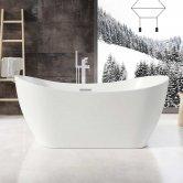 Orbit Austin Freestanding Bath 1700mm x 800mm - Acrylic