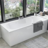 Orbit Cascade Double Ended Rectangular Bath 1600mm x 700mm - Acrylic