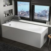 Orbit Cascade Single Ended Rectangular Bath 1700mm x 700mm - Acrylic