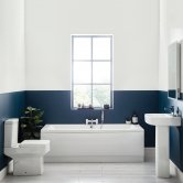 Orbit Denza Complete Bathroom Suite with Double Ended Bath 1700mm x 700mm