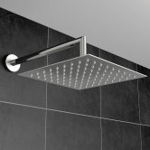 Orbit Square Fixed Shower Head 300mm x 300mm - Stainless Steel