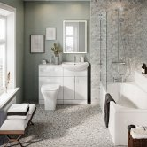 Orbit Lanza Complete Bathroom Furniture Suite with Single Ended 1700mm x 700mm Bath