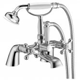 Orbit Mito Bath Shower Mixer Tap Pillar Mounted - Chrome