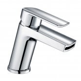 Orbit Nero Mono Basin Mixer Tap Single Handle with Push Button Waste - Chrome
