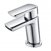 Orbit Nero Mini Mono Basin Mixer Tap Single Handle with Push Button Waste - Chrome
