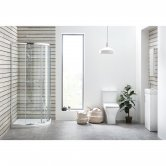 Orbit Porto Bathroom En-Suite with Quadrant Shower Enclosure - 900mm x 900mm