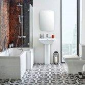 Orbit Porto Complete Bathroom Suite with L-Shaped Shower Bath 1700mm - Left Handed