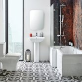 Orbit Porto Complete Bathroom Suite with L-Shaped Shower Bath 1700mm - Right Handed