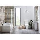 Orbit Porto Complete Bathroom Suite with P-Shaped Shower Bath 1675mm - Left Handed