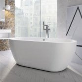 Orbit Riviera Freestanding Bath 1555mm x 750mm - Acrylic