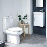 Orbit Spa Cloakroom Bathroom Suite with Floorstanding Vanity Unit 400mm Wide - 1TH