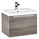 Orbit Supreme Wall Hung 1-Drawer Vanity Unit with Basin 500mm Wide - Avola Grey