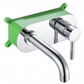 Orbit Zico 2-Hole Basin Mixer Tap with EZ Box Wall Mounted - Chrome