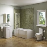 Adapt Complete Bathroom Suite with 1700mm Bath - Left Handed