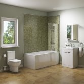 Adapt Complete Bathroom Suite with 1700mm Bath - Right Handed