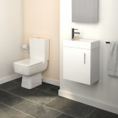 Bliss Furniture Bathroom Suite with Wall Hung Vanity Unit - 400mm Wide