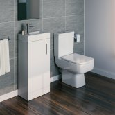 Bliss Furniture Bathroom Suite with Floor Standing Vanity Unit - 400mm Wide