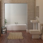 Bliss Modern Complete Bathroom Suite with Double Ended 1700mm X 700mm Bath