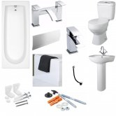 Calypso Complete Bathroom Suite Pack with 1700mm Bath