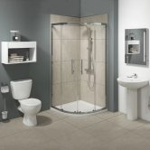 G4K Bathroom En-Suite with Quadrant Shower Enclosure - 800mm x 800mm