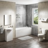 G4K Complete Bathroom Suite with 1400mm x 700mm Single Ended Bath