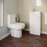 Harmony Furniture Bathroom Suite with Floor Standing Vanity Unit - 400mm Wide