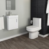 Harmony Furniture Bathroom Suite with Wall Hung Vanity Unit - 400mm Wide