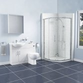 Encore Bathroom En-Suite with Quadrant Shower Enclosure - 900mm x 900mm