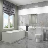Impakt Complete Bathroom Suite with 1700mm x 700mm Single Ended Bath
